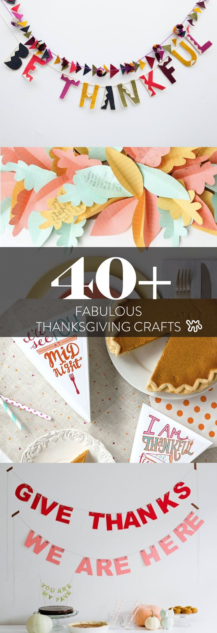 Colder weather is here and Thanksgiving is coming up. Now is the perfect time to hunker down inside with some spiced—ahem, spiked—cider and get started on some Thanksgiving crafting. These 40 projects, from turkey leg balloons and pine cone drink stirrers to pie slice garlands and gold-leafed wishbones, will infuse your home and table with warmth and cheer.