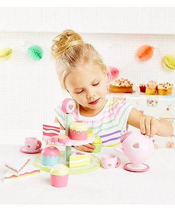 ELC Wooden Afternoon Tea Set   shopping toys   Mothercare