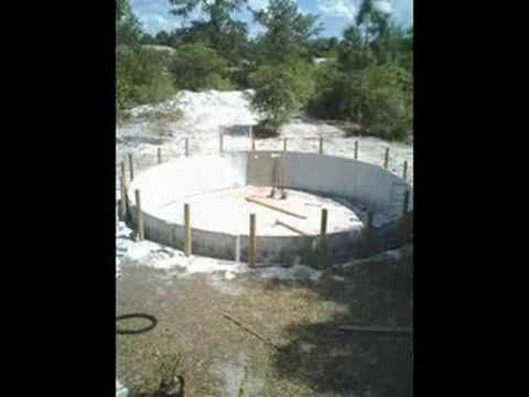 How to bury an above ground pool - YouTube