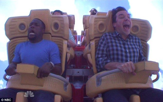 "Kevin Hart & Jimmy Fallon ride the Hollywood Rip Ride Rockit at Universal Orlando Resort (""The Tonight Show Starring Jimmy Fallon"")"