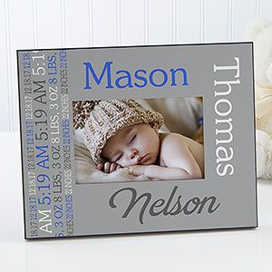 64 best baby personalized gifts images on pinterest personalised darling baby boy personalized picture frame negle Image collections