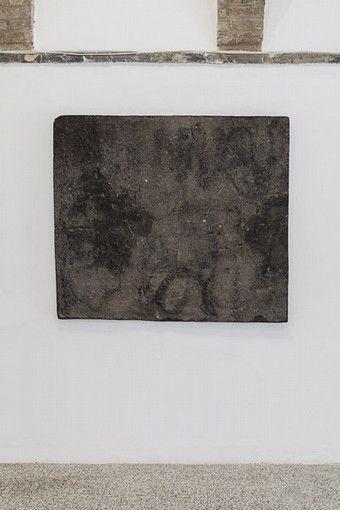Zhanna Kadyrova, DATA EXTRACTION - KIEV, 2012, asphalt, metal, epoxy resin, 152,5 x 133,5 cm. Galleria Continua San Gimignano, 2013. Photo by Ela Bialkowska