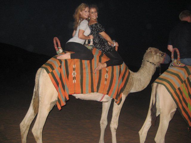 Camel Ride in the Desert with my Gorgeous Sister