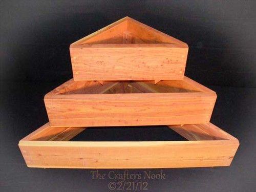 Stackable Cedar Raised Planter 2x1 5 Tiered Flower Bed Vegetable Enabling Garden   eBay