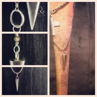 Spike up you life, Spikecycles!  Solid sterling silver spike necklaces. Layer them up! www.chelsearose.ca