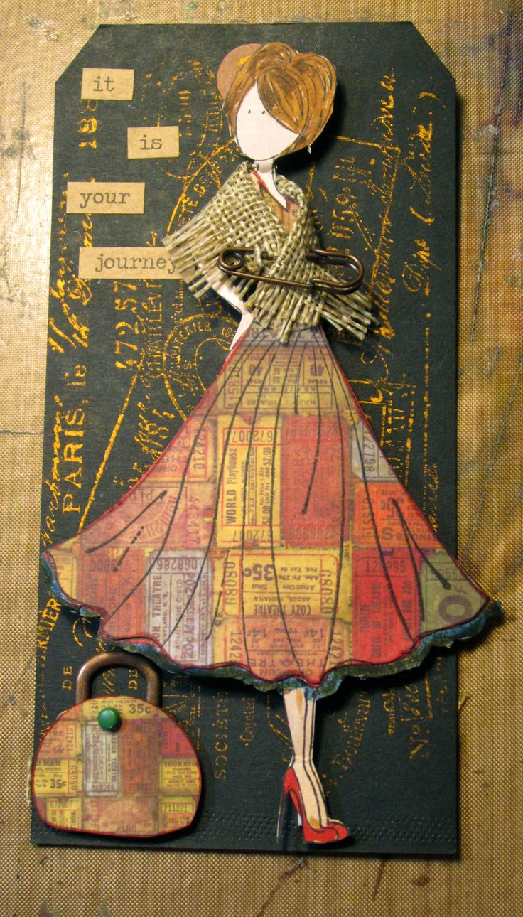 I love these prima doll stamps!!  This ones for the Simon Says Challenge blog.  Pin it is the theme.