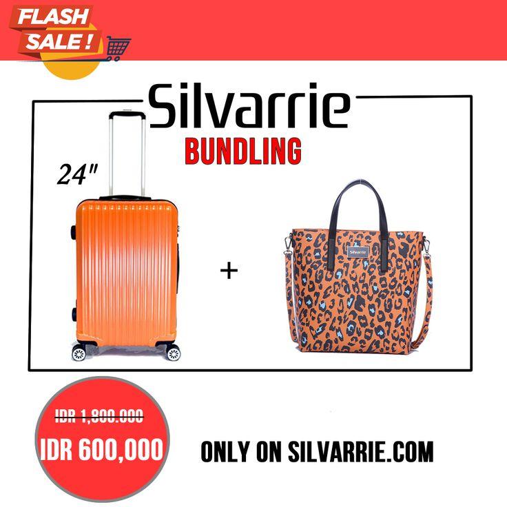 """Bundling: Koper/Travel Case 24"""" inci + Tas Antoine Leopard Printing Hanya: Rp. 600,000! Ayo buruan stok terbatas 10pcs ya.. Hanya belanja di www.Silvarrie.com Menangkan hadiah 6 tas Silvarrie & Voucher Carrefour total Rp.500,000. Caranya: Beli produk apa saja di Silvarrie.com, tulis review mengenai produk Silvarrie & share ke sosial media, jangan lupa tag/mention @silvarrie  Iinfo: WA 0811215106 📱BBM D3041DC5 📱LINE silvarriebags . . . #silvarrie #tasdiskon #diskontahunbaru #promoimlek"""