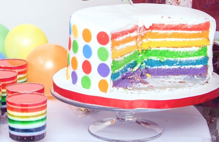 Rainbow birthday cake: Craziness Cr Cakeri, Birthday Time, Birthday St., Birthday Parties, Rainbow Birthday Cakes, Awesome Cakes, Cake Birthday, Color Cake, Cakes Birthday