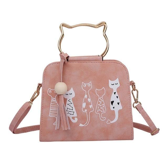 Women Cat Pattern Shoulder Crossbody Bag Animal Printing Messenger Bag