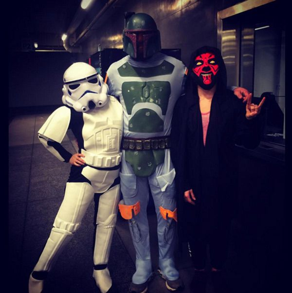 Ronday Rousey (Left) gets into the 'Star Wars' spirit with her boyfriend on December 17, 2015. (Courtesy of Instagram)