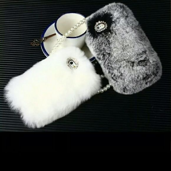 Luxury Gray Fur phone case iphone 6s plus Super soft phone case fits the iphone 6 S Plus Accessories Phone Cases