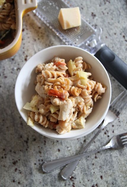 chicken and artichoke baked pasta | mains | Pinterest
