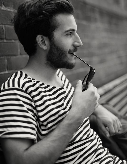 stripes striped shirt beard style fashion men hair beard streetstyle tumblr