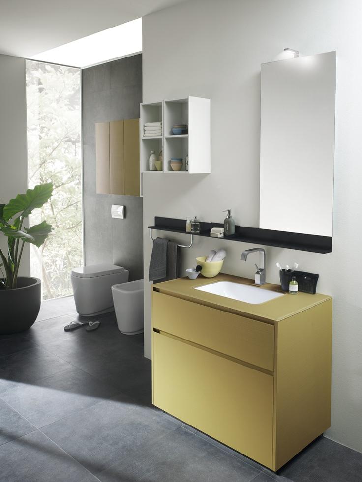 #kylpyhuone #scavolini #decorkylpyhuoneet #kylpyhuonekalusteet #sisustus  Rivo kylpyhuonekaluste Scavolini #Design & #Colours | #Scavolini | #Bathrooms |