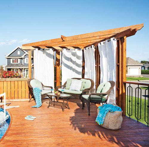 nos meilleures solutions pour se cacher des voisins terrasse et exterieur pinterest patios. Black Bedroom Furniture Sets. Home Design Ideas