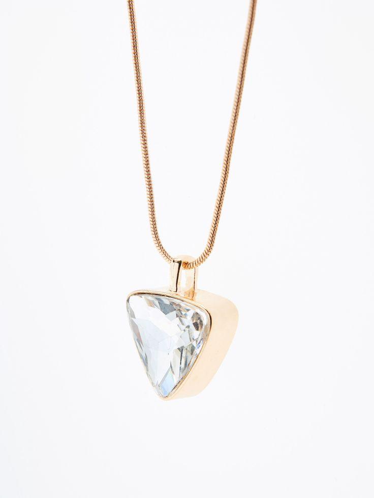 Hosszú nyaklánc háromszög alakű függővel, ÉKSZEREK, arany, MOHITO