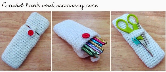 Teffany Knows Crochet: CROCHET HOOK AND ACCESSORY CASE – FREE PATTERN
