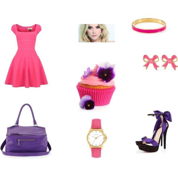 """Cupcake violet"" by balsamoirene on Polyvore"