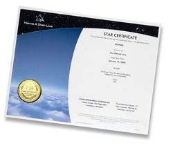 Our Instant Gift Set comes with a digital version of our star certificate for you to print at your convenience. Certificate of Launch available post launch.  $19.95