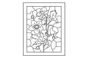 Šablony malování na sklo - vitráž 09 - Decoupage, ubrousková technika, dřevěné rámečky, barvy na sklo a textil - Utulnybyt.cz