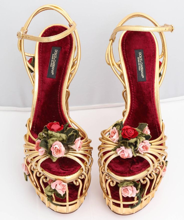 Very rare Dolce and Gabbana Runway Cage Heel Shoes Piece of Art