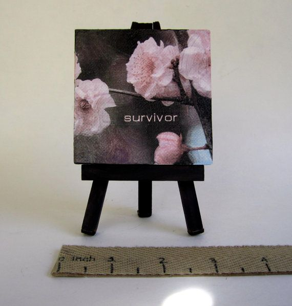 cancer survivor quote  small canvas art by TheSmallestThought