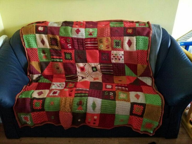 Crochet throw I made for a friend