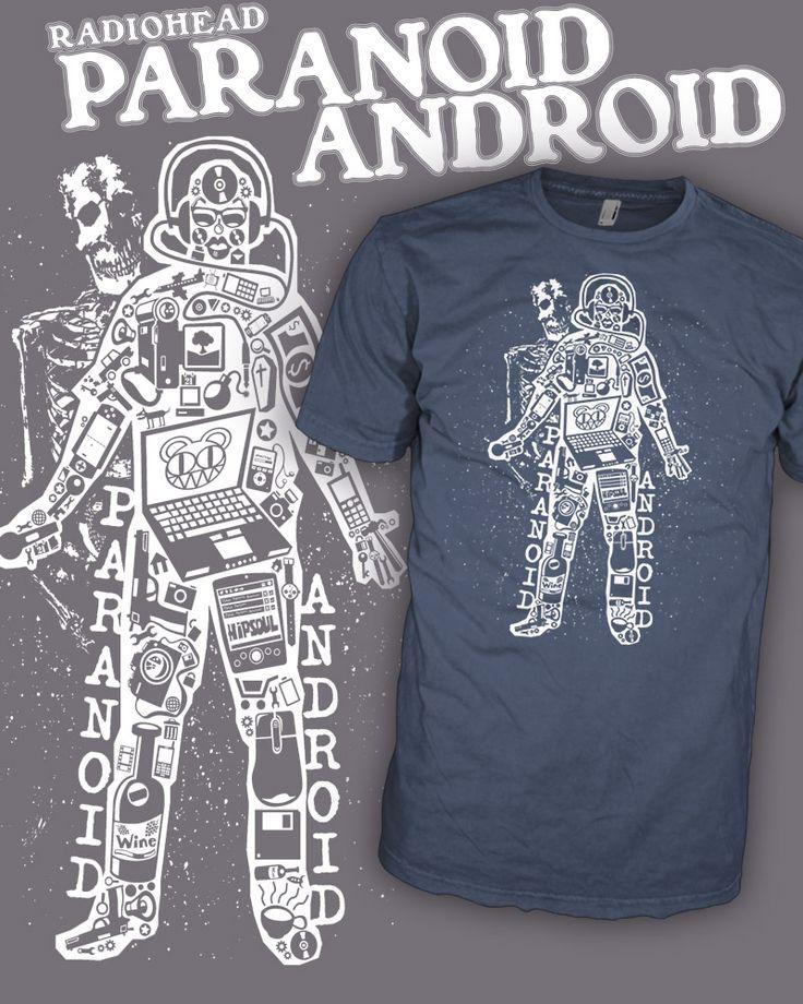 Radiohead Band - Emo Hell - Paranoid Android - Rock Band Shirt