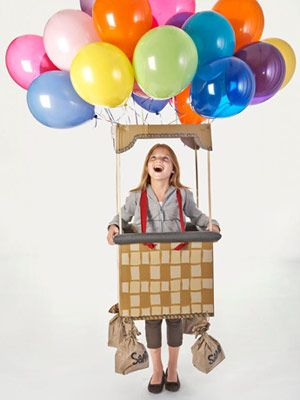 costume: Hot Air Balloon, Diy Halloween Costumes, Balloon Costumes, Kids Halloween Costumes, Hotairballoon, Halloween Ideas, Homemade Halloween, Costumes Ideas, Halloweencostum