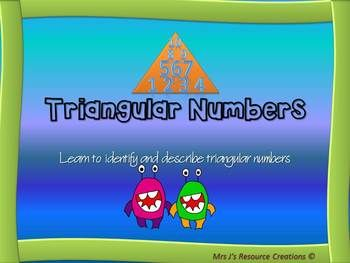 This Mini Pack aims to teach students about triangular numbers. The goal of the PowerPoint and Lesson is to enable students to identify and describe triangular numbers