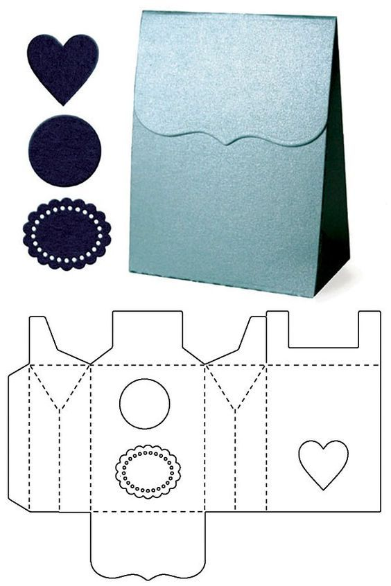 molde bolsa para presente