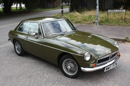 1974 MGB GT - Tundra Green, classic British sports car - before it was ruined by the changes required for sale in the USA