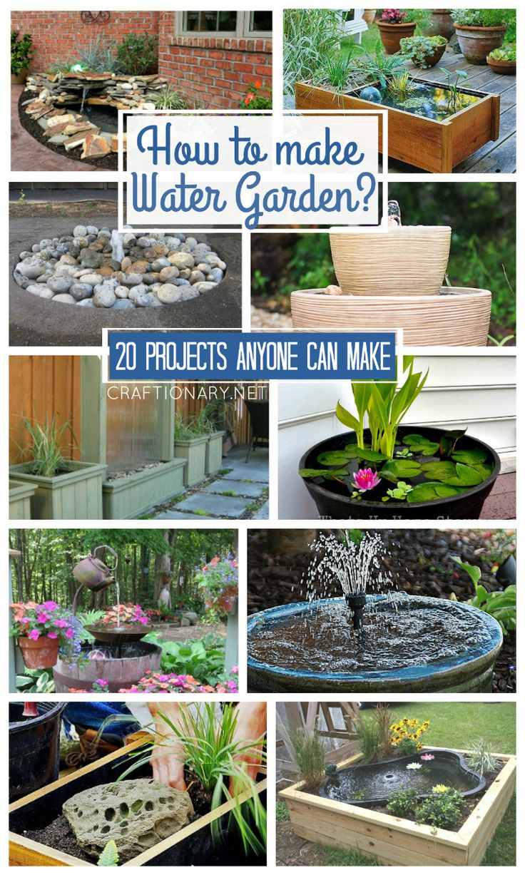 Water garden projects that range from easy to difficult to suit different skilled people. How to make water garden, is a complete guide to making beautiful water feature in any space.