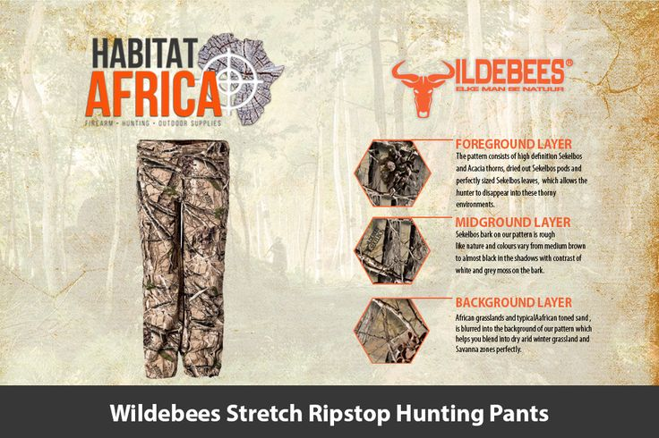 The Wildebees Stretch Ripstop Hunting Pants are made from stretchy rip-stop…