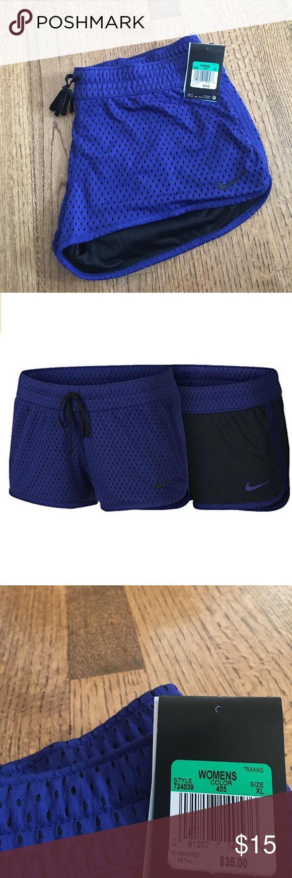 NWT Nike Women's Training Shorts NWT Nike Women's Training Shorts. Brand new, never worn! Reversible Shorts.  *Note: these shorts are a little shorter than some Nike running shorts, but they are still great for working out or casual wear Nike Shorts