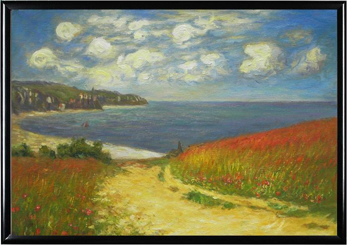 Beach In Pourville | ... the Corn to the Beach Pourville ...