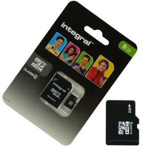Acce2S – CARTE MEMOIRE 8 GO pour LG Wine Smart MICRO SD HC + ADAPT SD integral