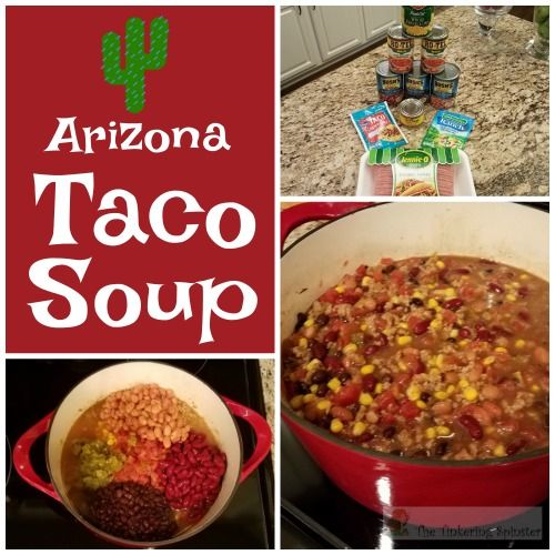 This taco soup is a hearty and healthy meal made with turkey and three different kinds of beans. It will become a family favorite.