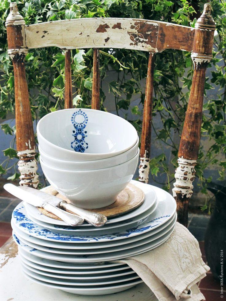 ikea rustik midsommar inspiration 3 porslin glas. Black Bedroom Furniture Sets. Home Design Ideas
