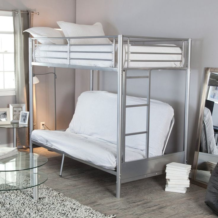 http://www.modelhomekitchens.com/category/Futon/ Duro Wesley Twin over Futon Bunk Bed - Silver - Bunk Beds & Loft Beds at Hayneedle