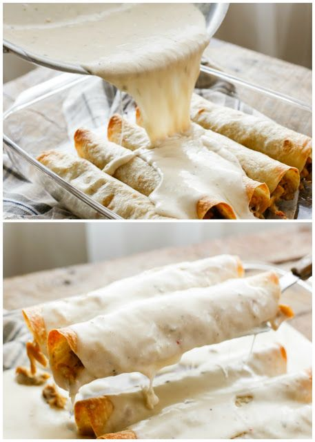 Slow Cooker Smothered Green Chile Chicken Burritos - get the recipe at barefeetinthekitchen.com