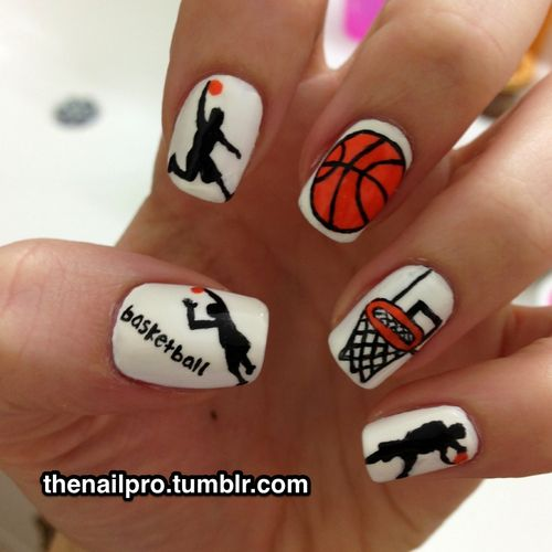 basketball #nail #nails #nailart