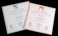 10 Handmade Christening/Baptism/Naming Invitations Boy or Girl
