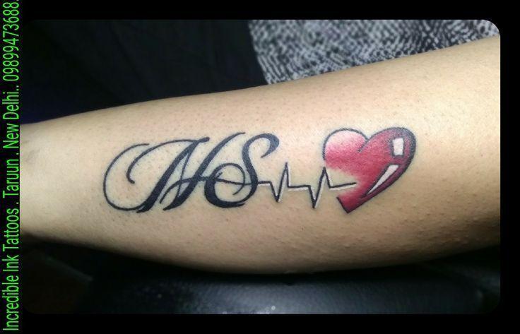 Pin By Jugnugill On Mehndi In 2020 Heartbeat Tattoo Name Tattoo Designs Alphabet Tattoo Designs