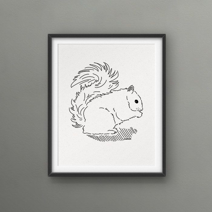 Love or Hate Squirrel? 8x10 Art Print // Love/Hate Montreal