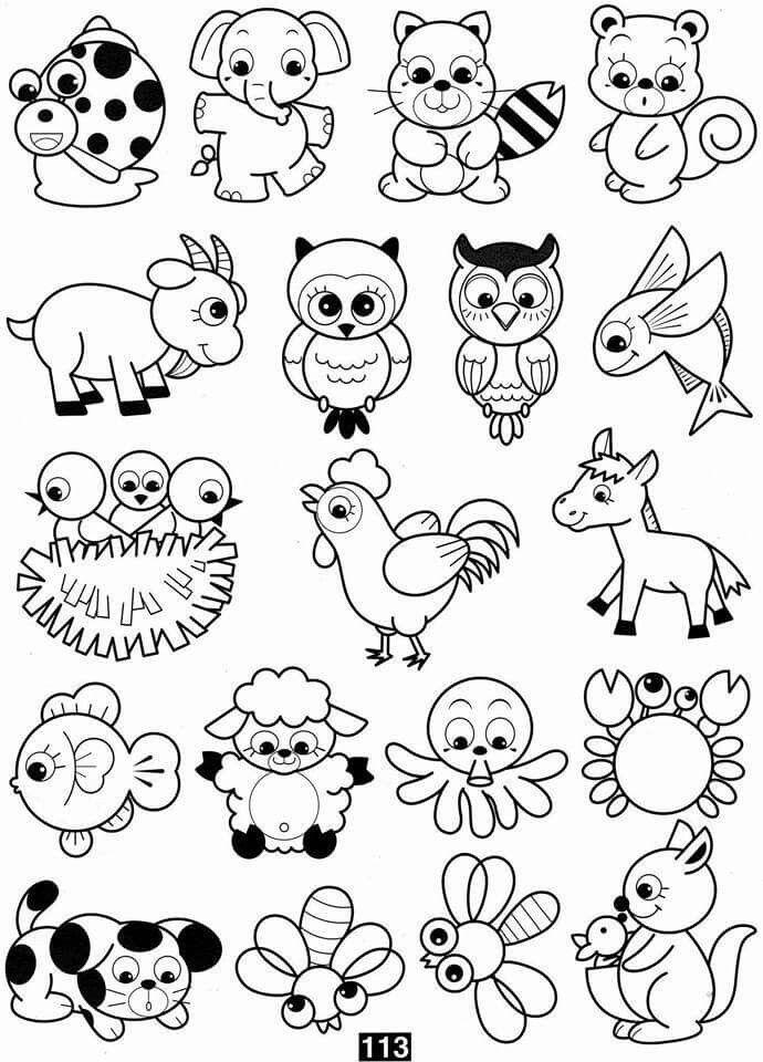 старалась отобрать милые рисунки животных распечатать этого некоторые