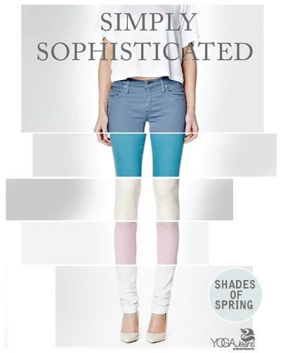 An array of endless elegance from Yoga Jeans. We have the top two blue colours here at Luvly!