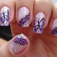 Stylish Board Stylish and Elegant Butterfly Nail Art