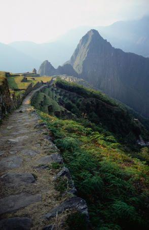 El Camino Inca- el sistema de senderos constuídos por los Incas se llama.