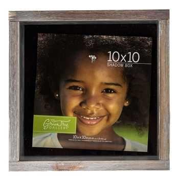 "10"" x 10"" Rustic Barnwood Shadow Box"